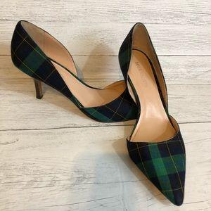 Sole society green tartan kitten heels Jenn 7